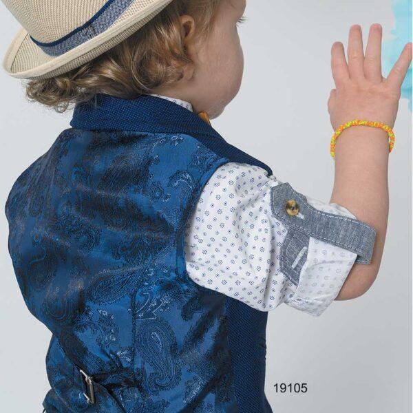 Βαπτιστικό κουστούμι μπλε- ταμπά
