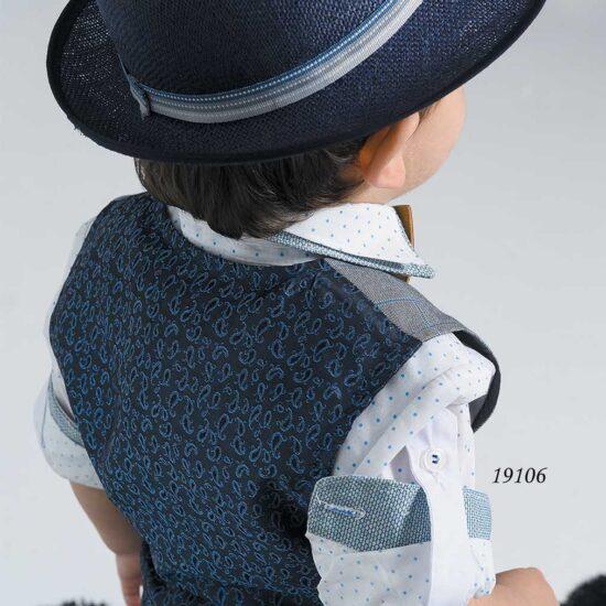 Βαπτιστικό κουστούμι με γιλέκο καρό