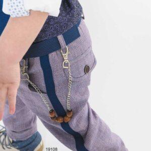 Βαπτιστικό κουστούμι μπλε-κόκκινο