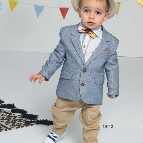 Βαπτιστικό κουστούμι με σακάκι μπλε