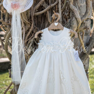 Βαπτιστικό φόρεμα κιπούρ
