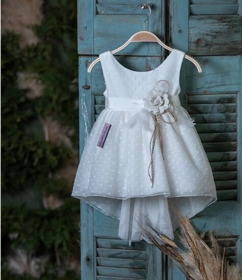 Φόρεμα βάπτισης ασύμμετρο