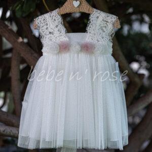 Βαπτιστικό φόρεμα κορίτσι με στρασάκια