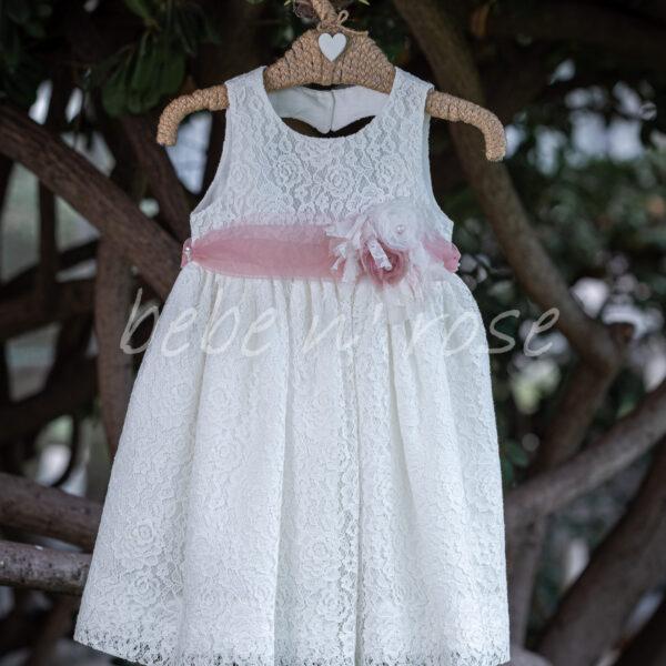 Βαπτιστικό φόρεμα κορίτσι με λουλούδια