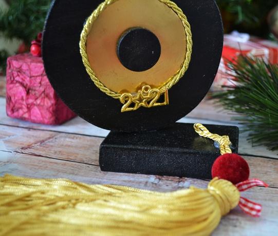 Γούρι ματάκι μαύρο-χρυσό
