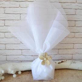 Μπομπονιέρα λουλούδι σουέτ