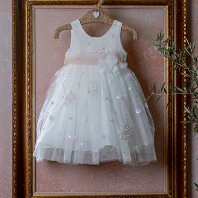 Φόρεμα με κεντημένα λουλούδια