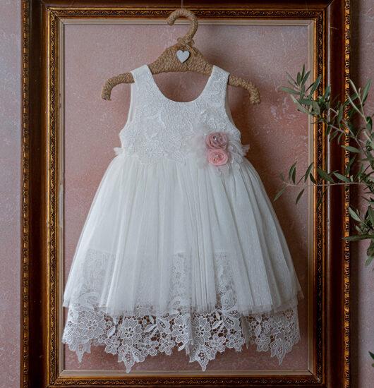Φόρεμα λουλούδια από δαντέλα